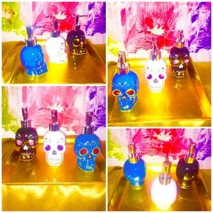 💀Set of 3-Day of The Dead Soap Dispensers NWT💀